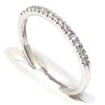 anillo alianza oro blanco 18k con diamantes