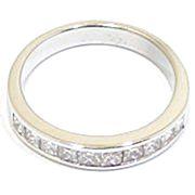 anillo alianza oro blanco y diamantes princesa A3380 00