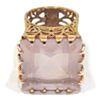 Anillo de plata 925 chapada y cuarzo rosa