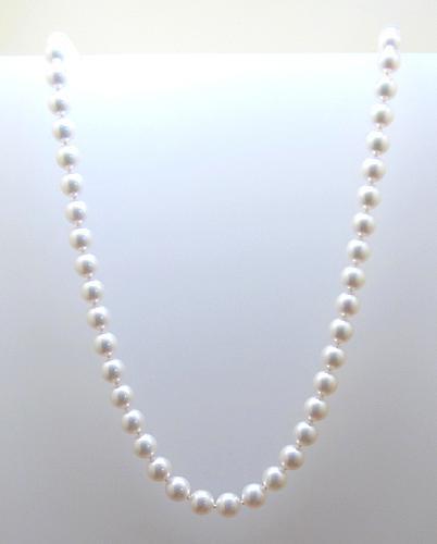 4636a6595a54 Collar de perlas MIKIMOTO con cierre de oro 18k original - Bueno Joyeros