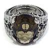 Anillo de plata de Ley 925 con Cuarzo oval Fumé