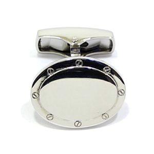 Gemelos de plata 925 ovalados lisos