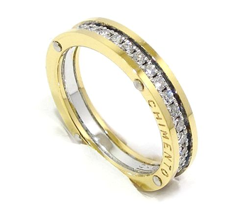 Alianza completa diamantes oro blanco y rosa Chimento