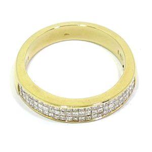 Alianza oro amarillo diamantes princesa