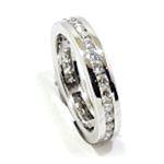 Anillo alianza completa oro blanco diamantes