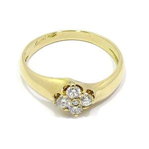Anillo oro amarillo diamantes