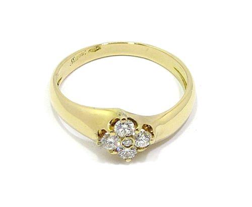 Anillo oro amarillo diamantes