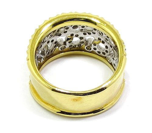Anillo oro amarillo y blanco diamantes