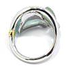 Anillo oro blanco aguamarina diamantes N1A0353