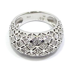 Anillo oro blanco diamantes