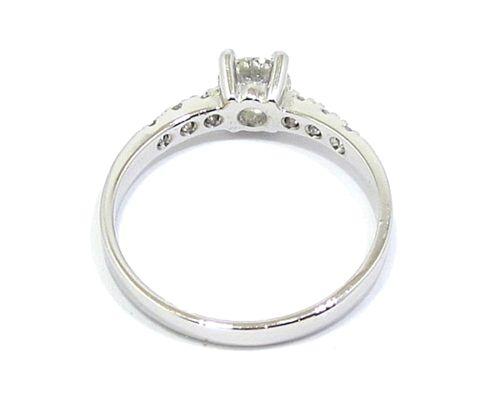 Anillo solitario oro blanco diamantes 4 garras