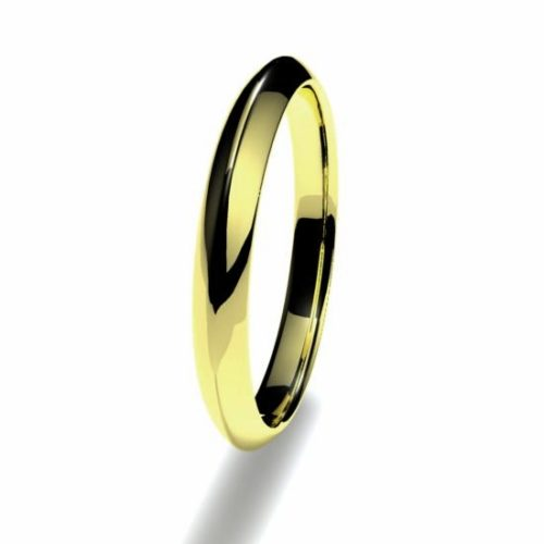 Anillo alianza oro amarillo 18K 2,5mm seccion piramidal n12