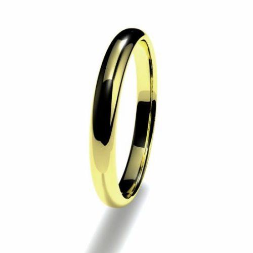 Anillo alianza oro amarillo 18K 2,5mm seccion redonda n12