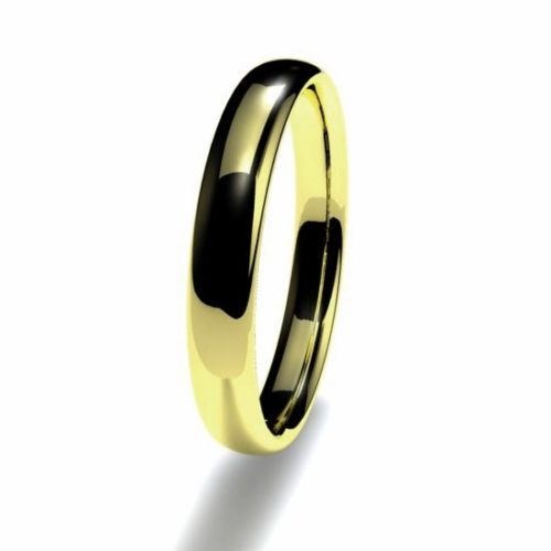Anillo alianza oro amarillo 18K 3mm seccion oval n12