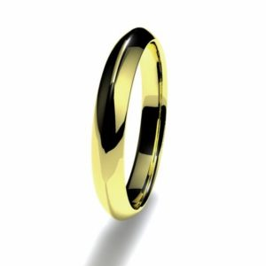 Anillo alianza oro amarillo 18K 3mm seccion piramidal n12