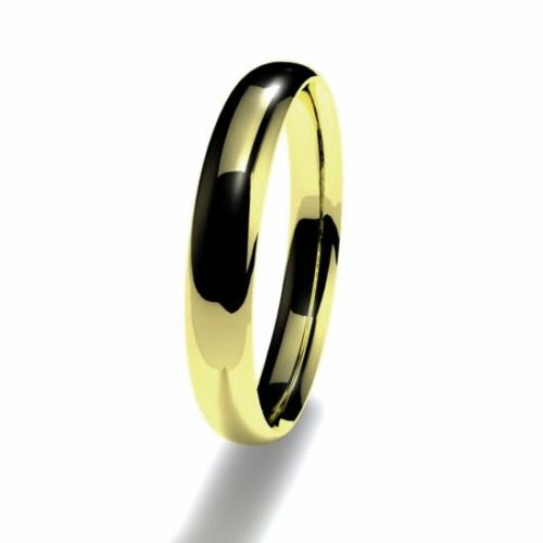 Anillo alianza oro amarillo 18K 3mm seccion plana n11