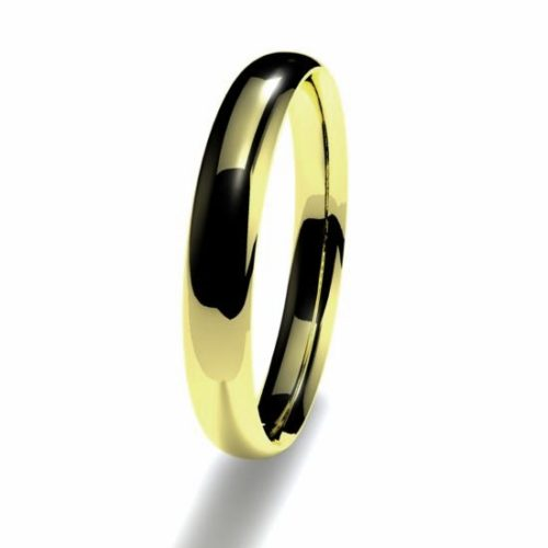 Anillo alianza oro amarillo 18K 3mm seccion plana n14