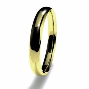 Anillo alianza oro amarillo 18K 3mm seccion plana n17