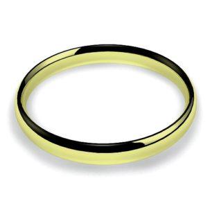 Anillo alianza oro amarillo 18K 3mm seccion plana n24
