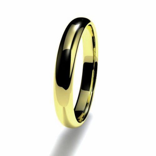 Anillo alianza oro amarillo 18K 3mm seccion redonda n12