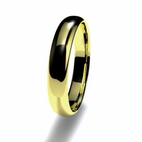 Anillo alianza oro amarillo 18K 3,5mm seccion redonda n12