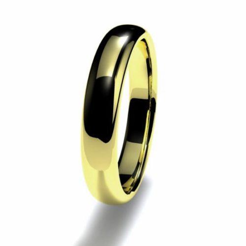 Anillo alianza oro amarillo 18K 3,5mm seccion redonda alta n12