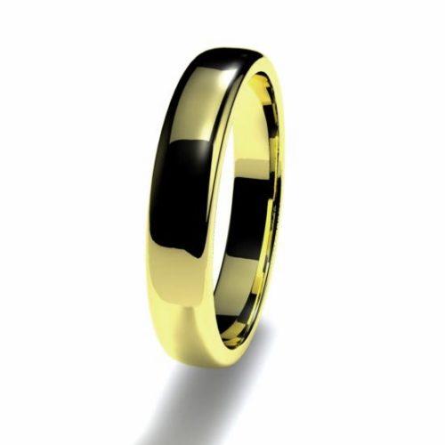 Anillo alianza oro amarillo 18K 3,5mm seccion semirecta n12