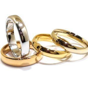 Alianzas de boda de oro y plata