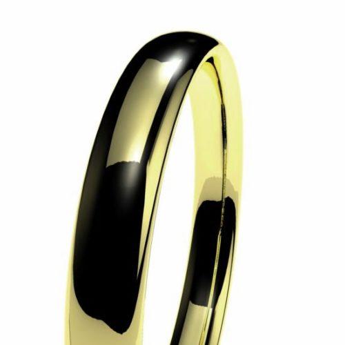 Oval en oro amarillo