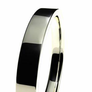 Recta o rectangular en oro blanco