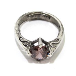 Anillo de plata 925 con circonita rosa