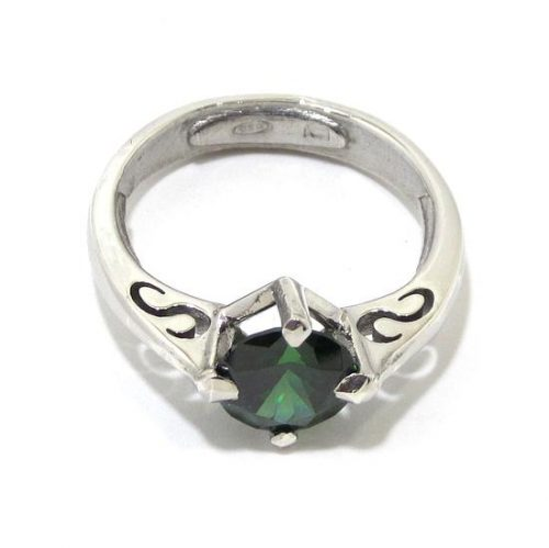 Anillo de plata 925 con circonita verde
