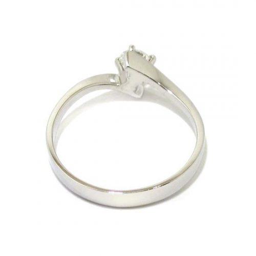 Anillo solitario oro blanco 18K diamante talla brillante 0,25 ct