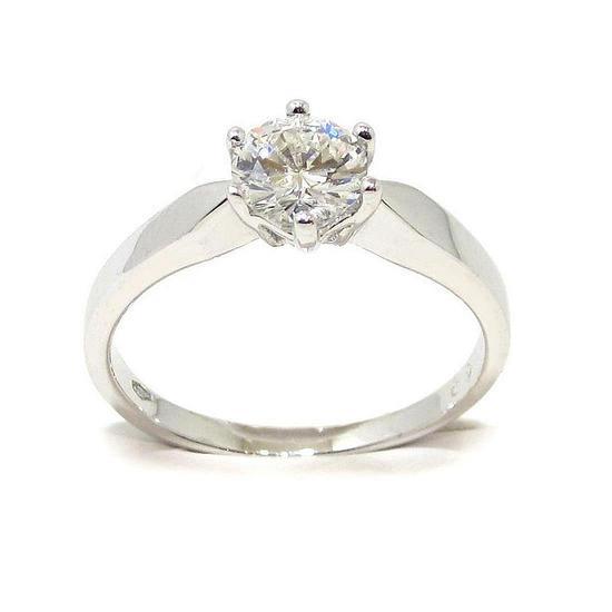 9003682c59e1 Anillo solitario oro blanco 18K con diamante talla brillante 0