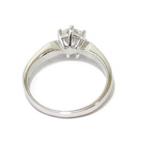Anillo solitario oro blanco 18K con diamante talla brillante 0,73ct