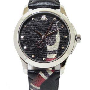 Reloj GUCCI Timeless serpiente 38mm Acero correa piel YA1264007