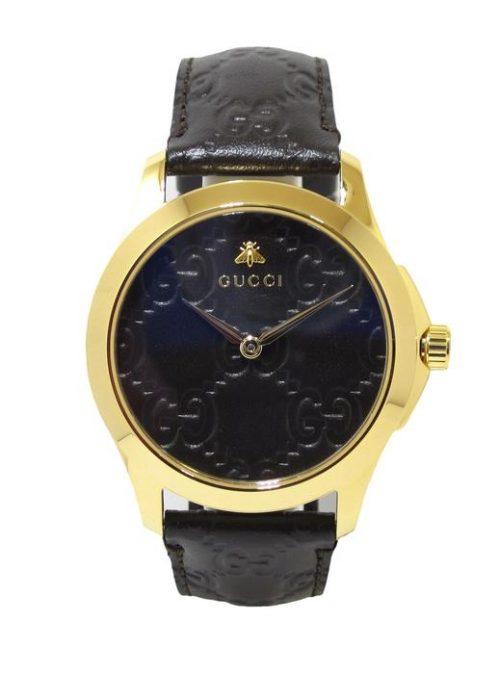 Reloj GUCCI Timeless 38mm PVD amarillo correa piel YA1264035