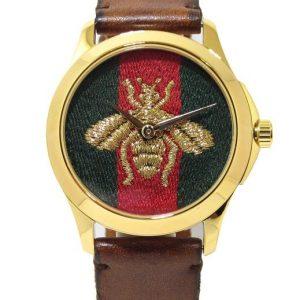 Reloj GUCCI Timeless abeja 38mm Acero PVD amarillo correa piel YA126451