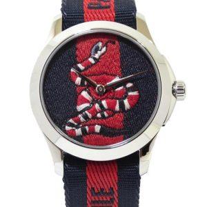 Reloj GUCCI Timeless serpiente 38mm Acero correa textil YA126493