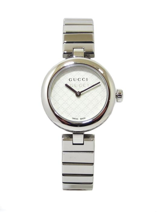 Reloj GUCCI Diamantissima 27mm Acero brillo YA141502 blanco - Bueno ... 5117b148356