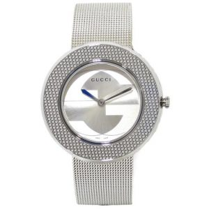 Reloj GUCCI U-Play 35mm Acero YA129407 esfera plateada