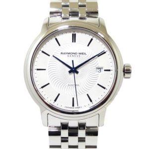 Reloj Raymond Weil Maestro 39mm Automatico esfera plateada 2237-ST-65001