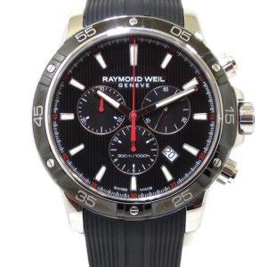 Reloj Raymond Weil Tango 43mm Crono Caucho esfera negra 8560-SR1-20001