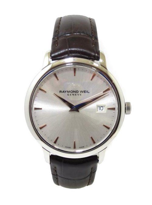 Reloj Raymond Weil Toccata 39mm esfera plateada/PVD correa marron 5488-SL5-65001