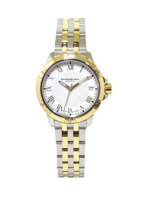Reloj Raymond Weil Tango 30mm PVD 100m esfera blanca 5960-STP-00308
