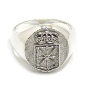 anillo sello con escudo de Navarra