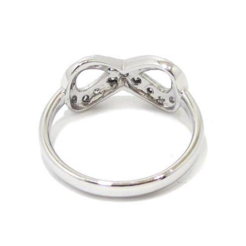 Anillo infinito diamantes oro blanco
