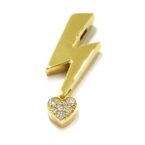Colgante Rayo con Corazón Oro Amarillo