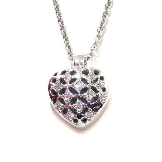 ventas calientes b513e dc010 Collar corazón colgante oro blanco y diamantes