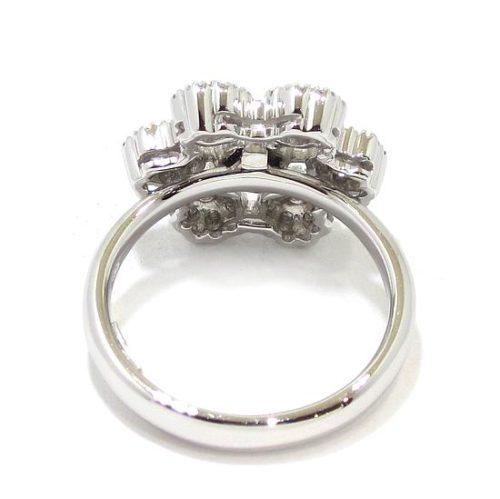 Anillo diamantes 7 circulos oro blanco